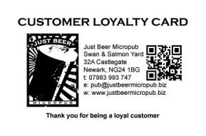 Just Beer loyalty card