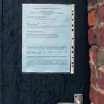 License application notice